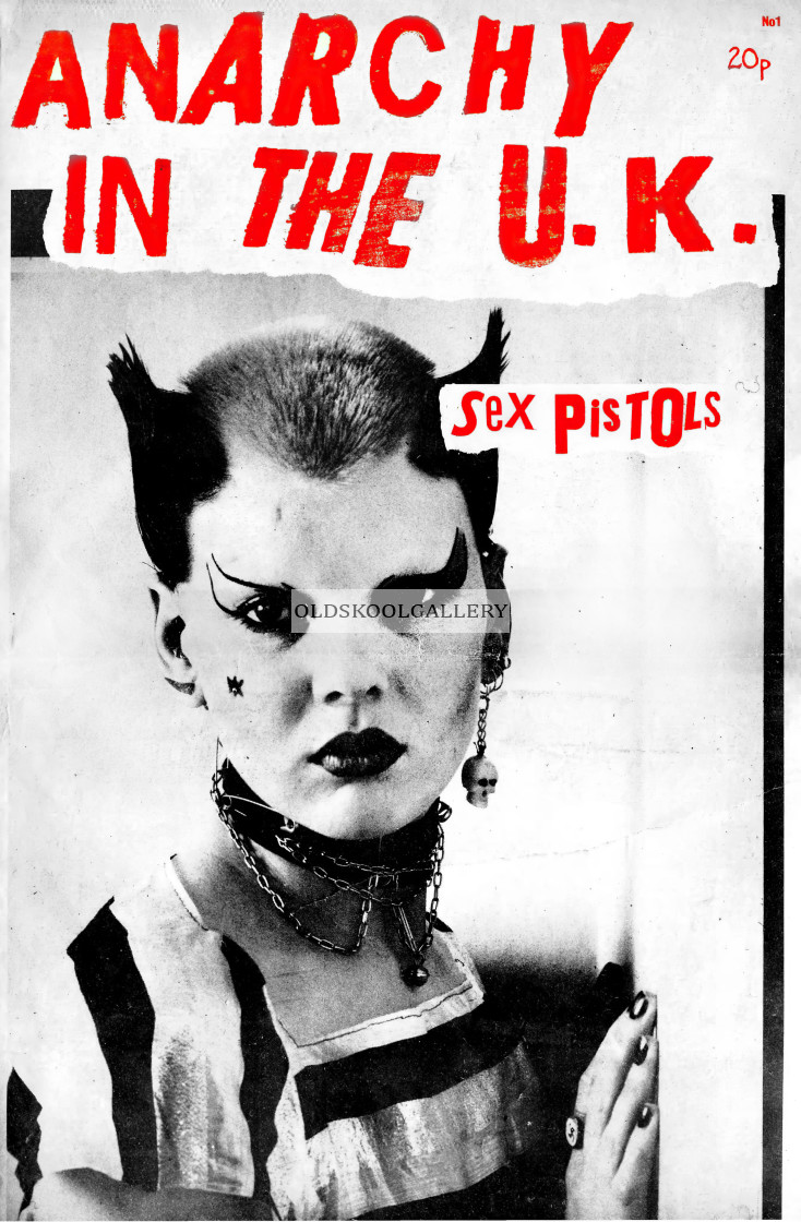 """""""Anarchy In The UK Fanzine (1976)"""" stock image"""