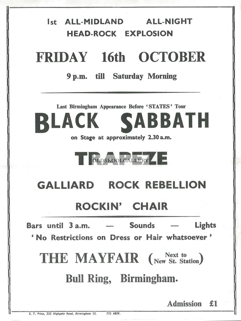 """Black Sabbath - Birmingham (1970)"" stock image"