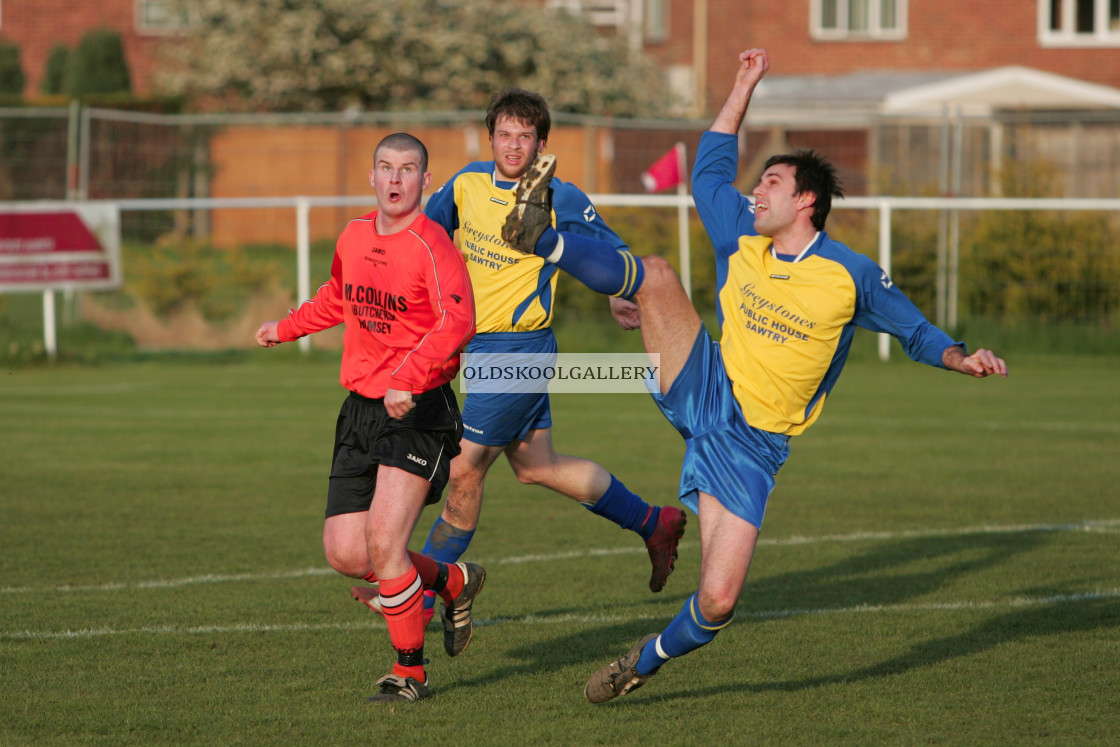 """""""Ramsey Town FC v Sawtry FC (2008)"""" stock image"""