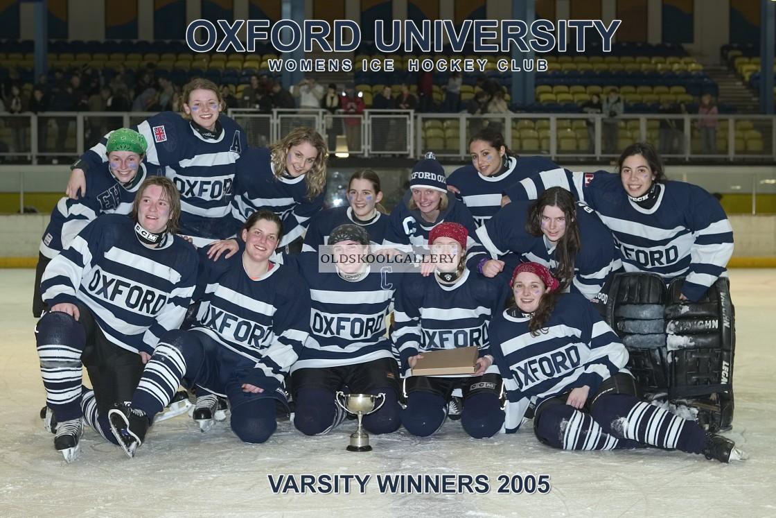 """Varsity Ice Hockey - Oxford Women (2005)"" stock image"