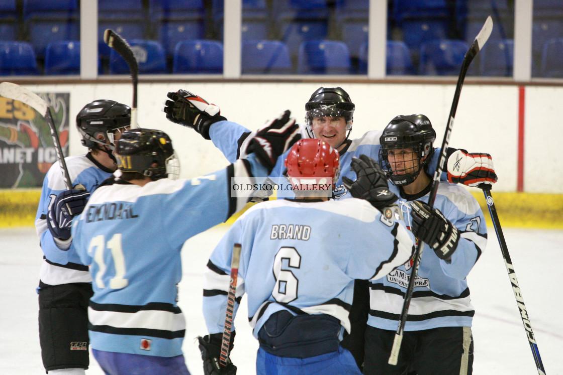 """Varsity Ice Hockey - Cambridge Eskimos v Oxford Vikings (2013)"" stock image"