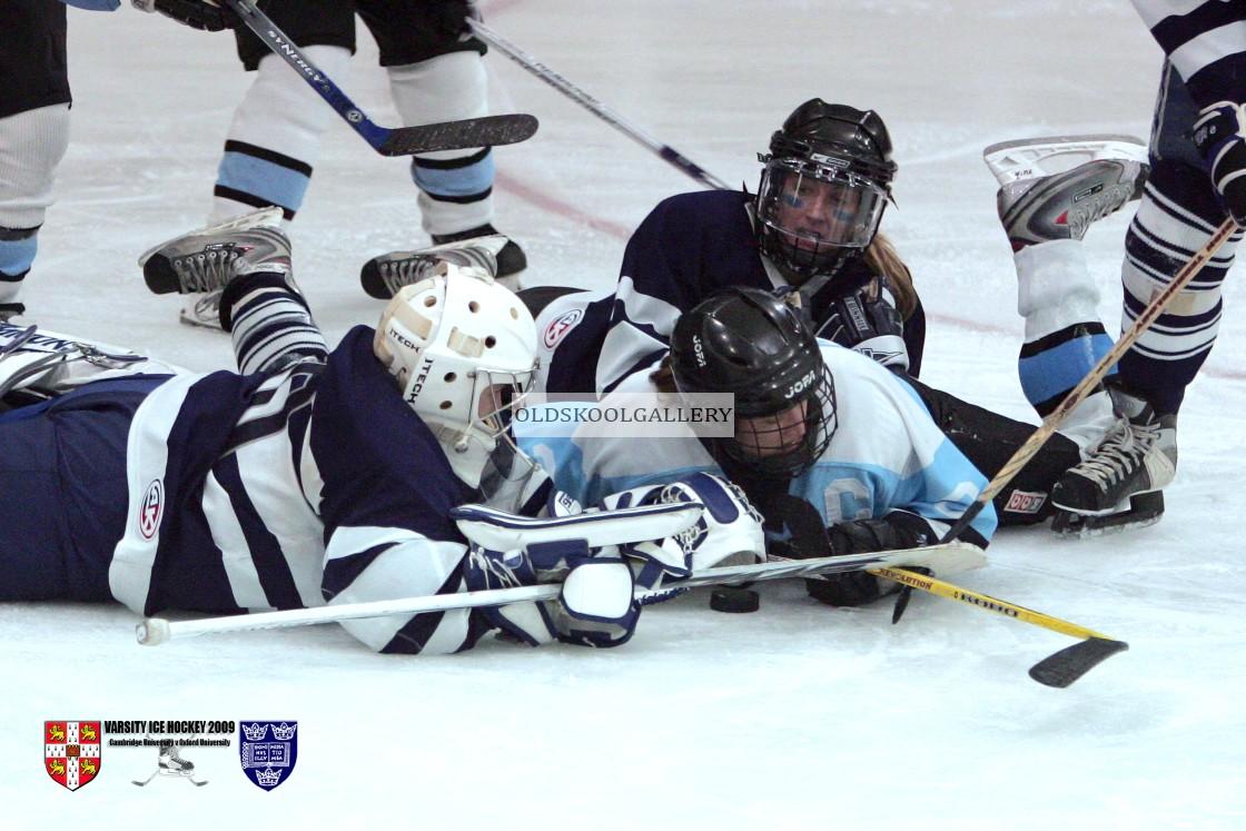 """Varsity Ice Hockey - Cambridge Women v Oxford Women (2009)"" stock image"