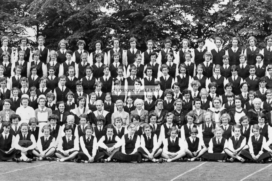 """""""St Mary & St Anne, Abbots Bromley 1954"""" stock image"""