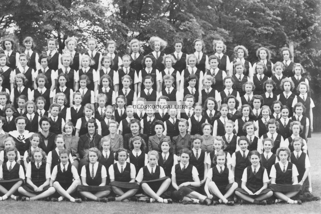"""""""St Mary & St Anne - Abbots Bromley (1946)"""" stock image"""
