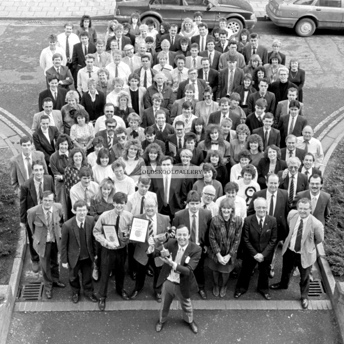 """Evening Telegraph Staff (1989)"" stock image"