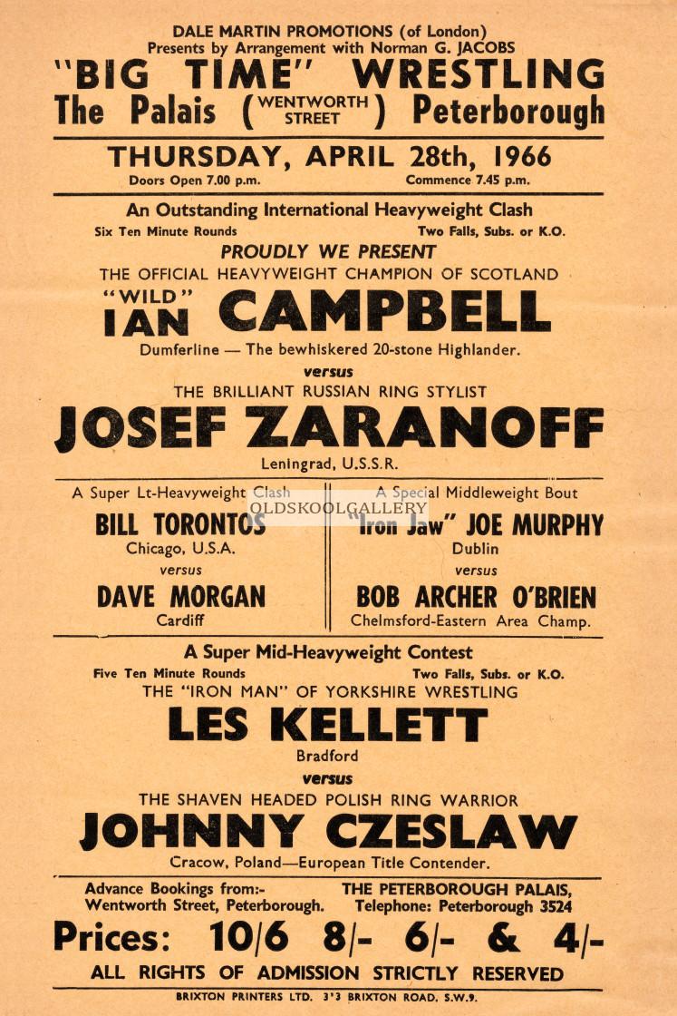 """Peterborough Palais Wrestling (1966)"" stock image"