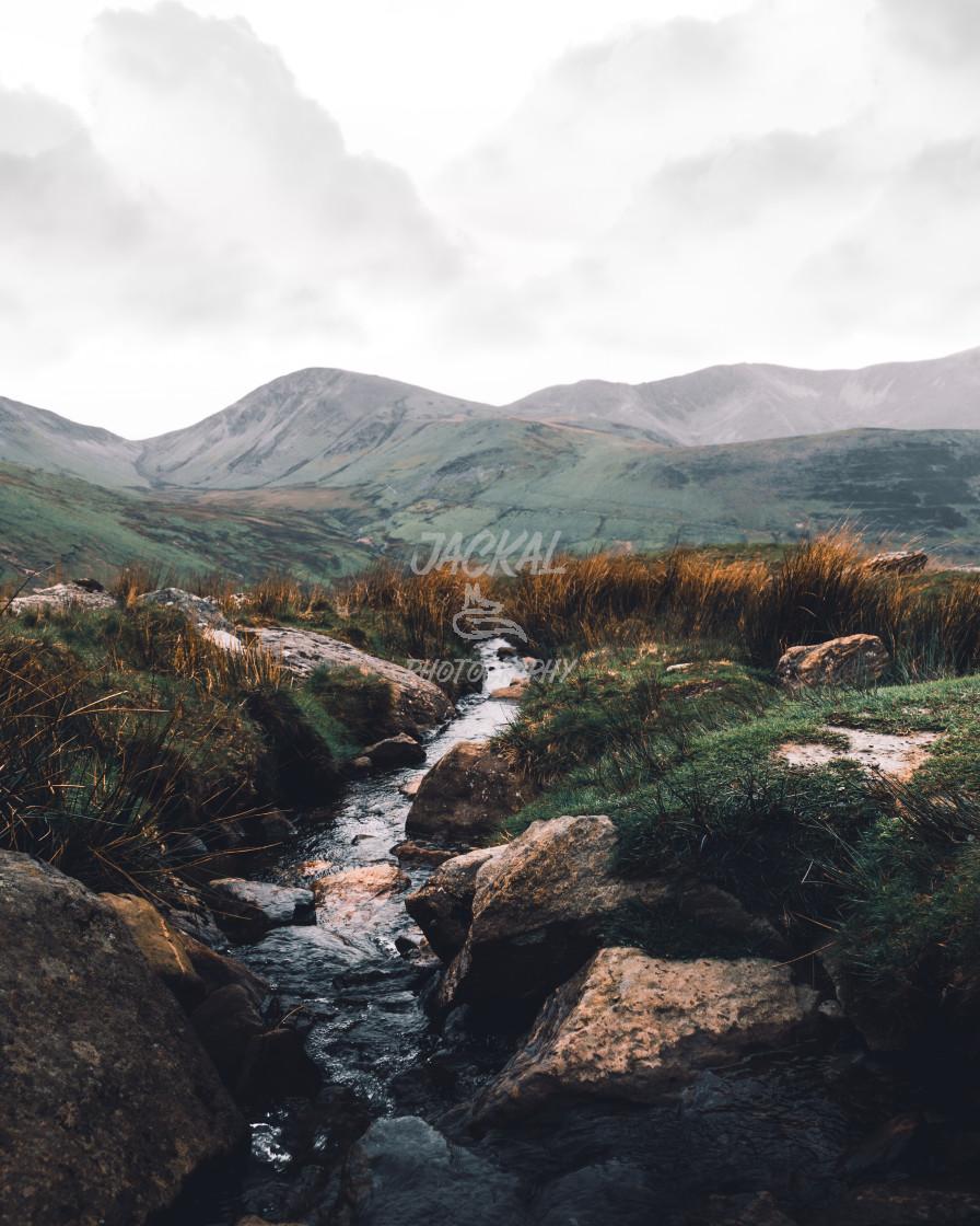 """Snowdon Stream"" stock image"