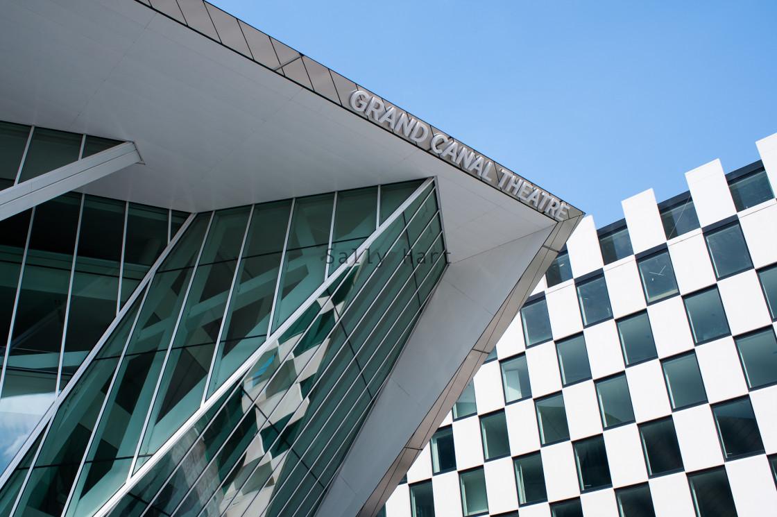 """Grand Canal Theatre, Daniel Libeskind, Dublin"" stock image"