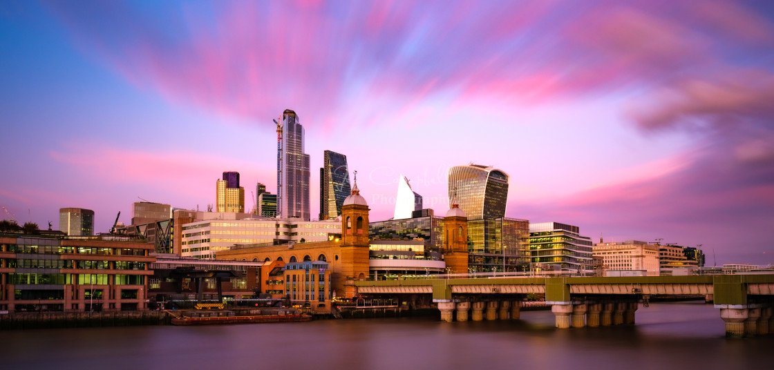 """City of London and the Thames"" stock image"