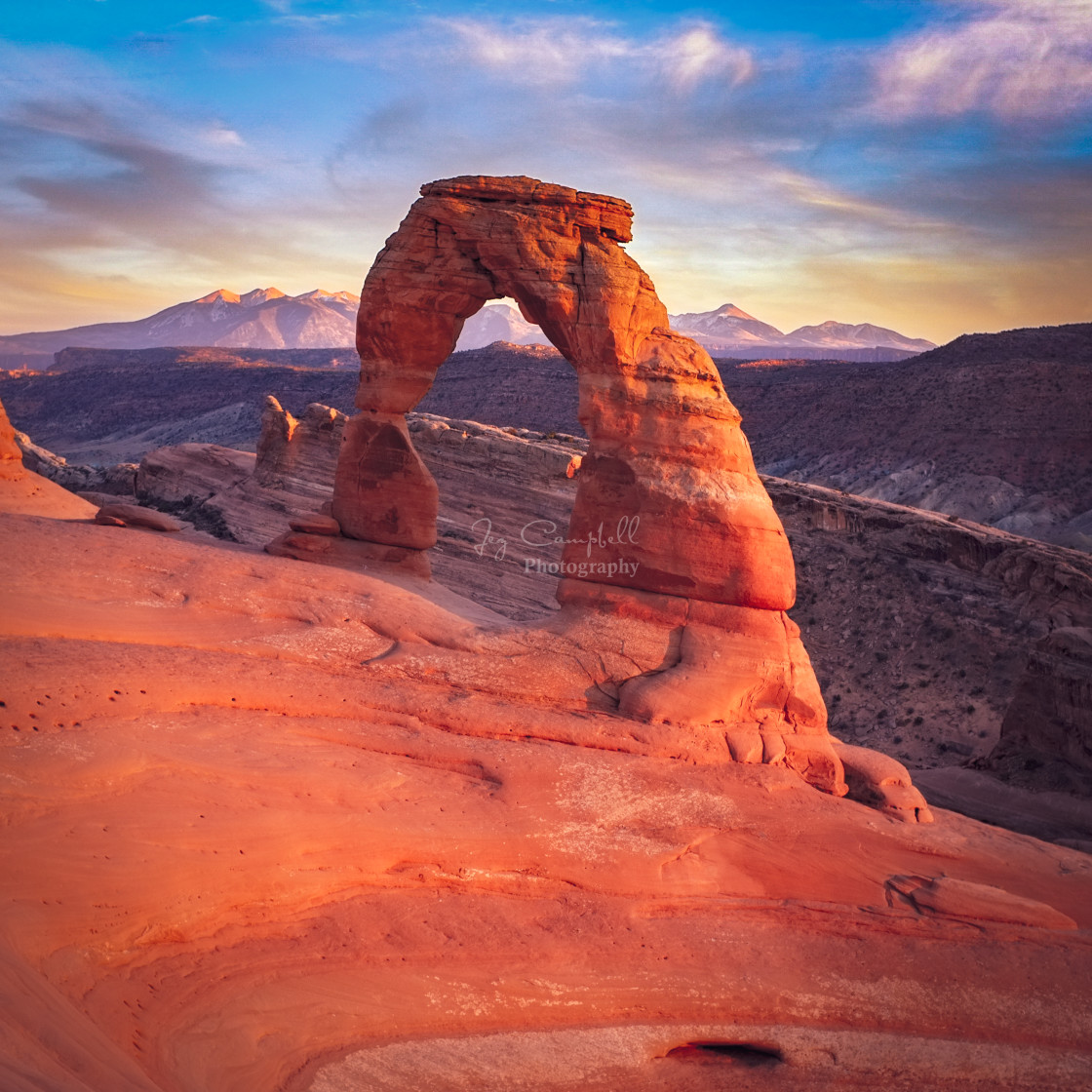 """Delicate Arch, Arches National Park,Moab, Utah"" stock image"