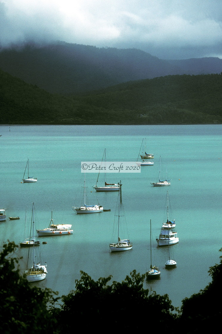 """""""Shute Harbour from South Molle Island, Whitsundays, Qld."""" stock image"""