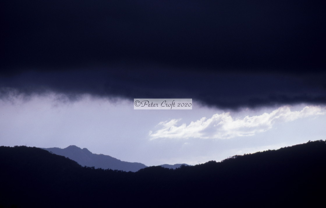 """Stormy skies, Cairns, Australia"" stock image"