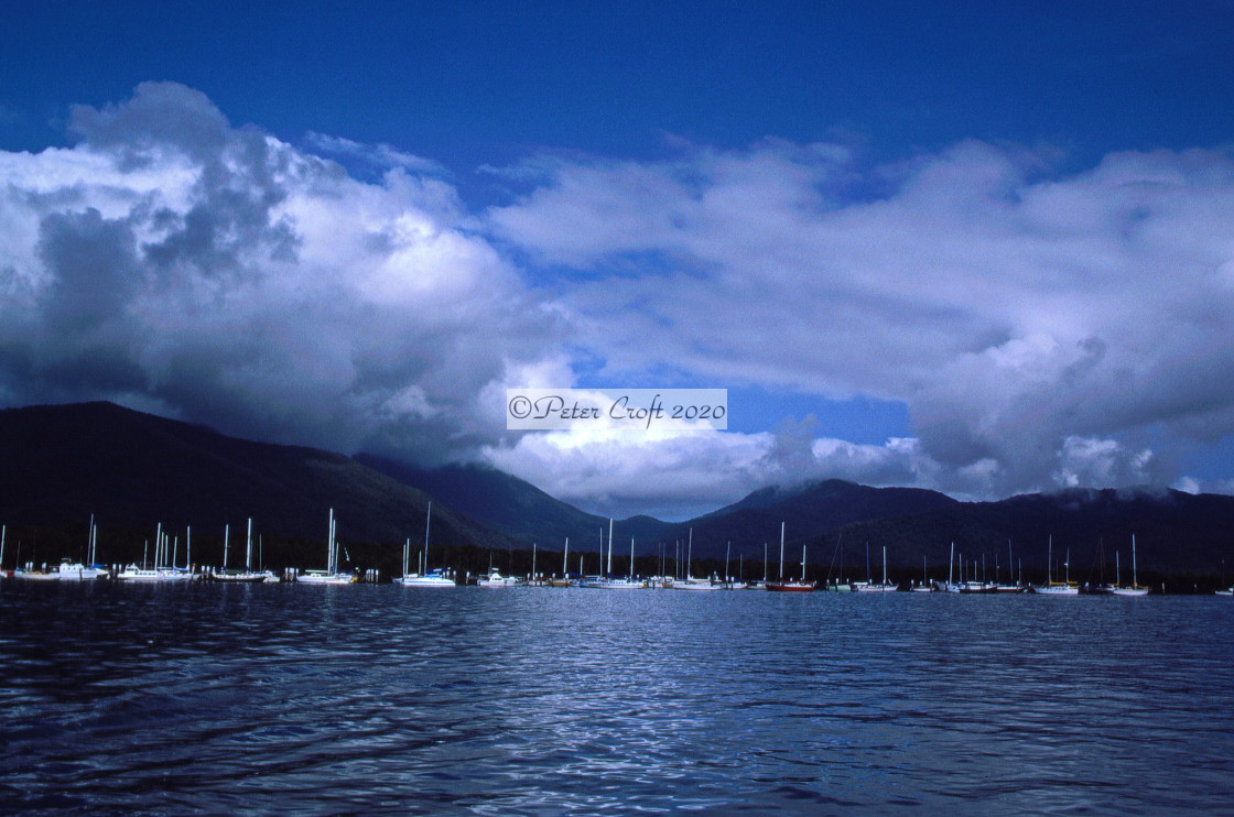 """""""Boats in Cairns Harbour, Queensland, Australia"""" stock image"""