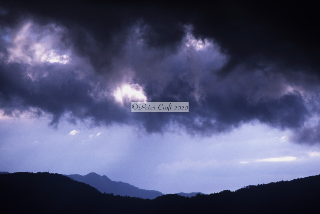 """Storm brewing, Cairns, Australia."" stock image"