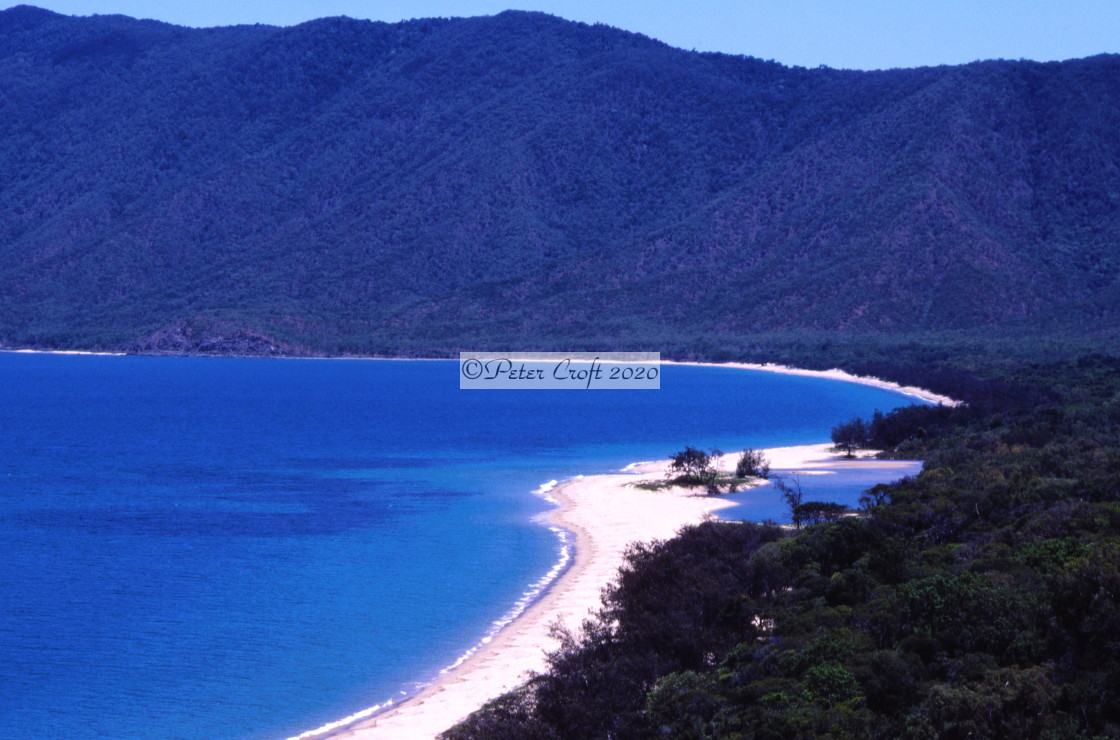 """Beatiful beach, Capt. Cook Highway, Queensland, Australia."" stock image"