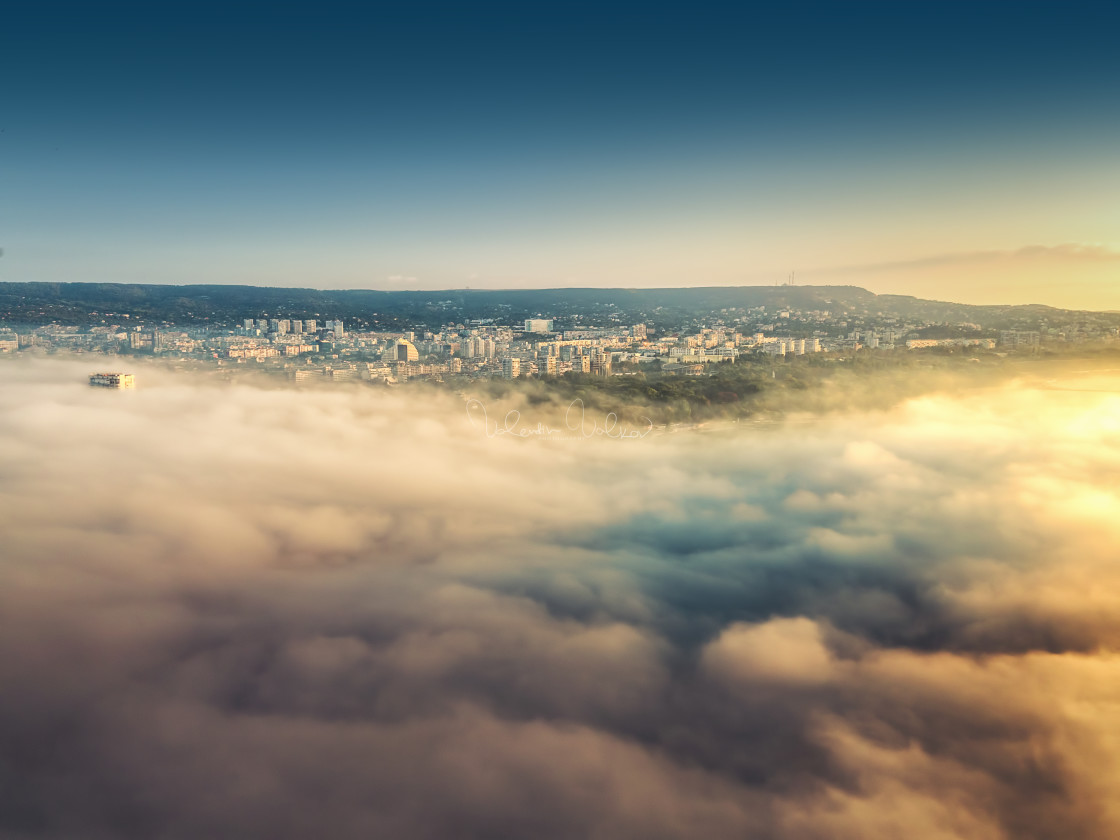 """Flying above the clouds"" stock image"