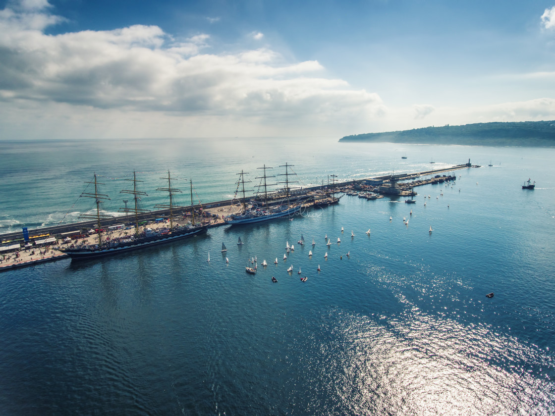 """""""Varna, Bulgaria - October 2, 2016: Black Sea Tall Ships Regatta,"""" stock image"""
