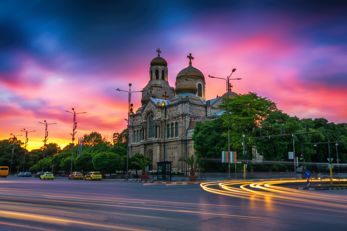 """The Cathedral of the Assumption in Varna"" stock image"