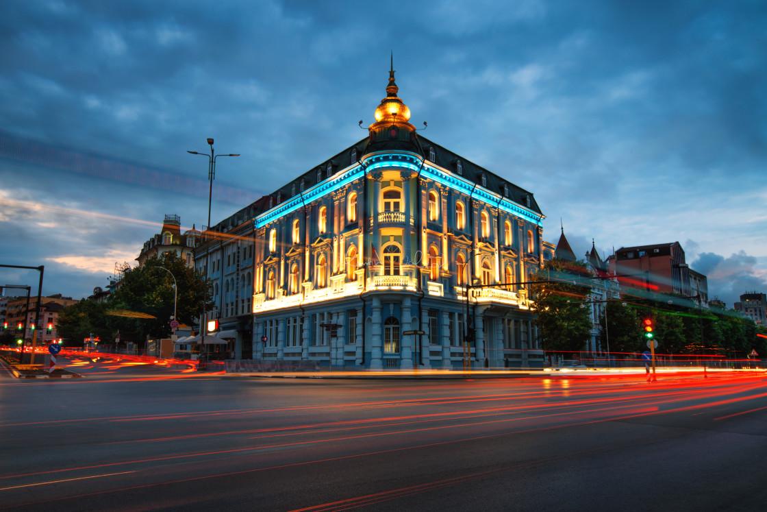 """""""Popular Landmark in Varna, naval hotel"""" stock image"""