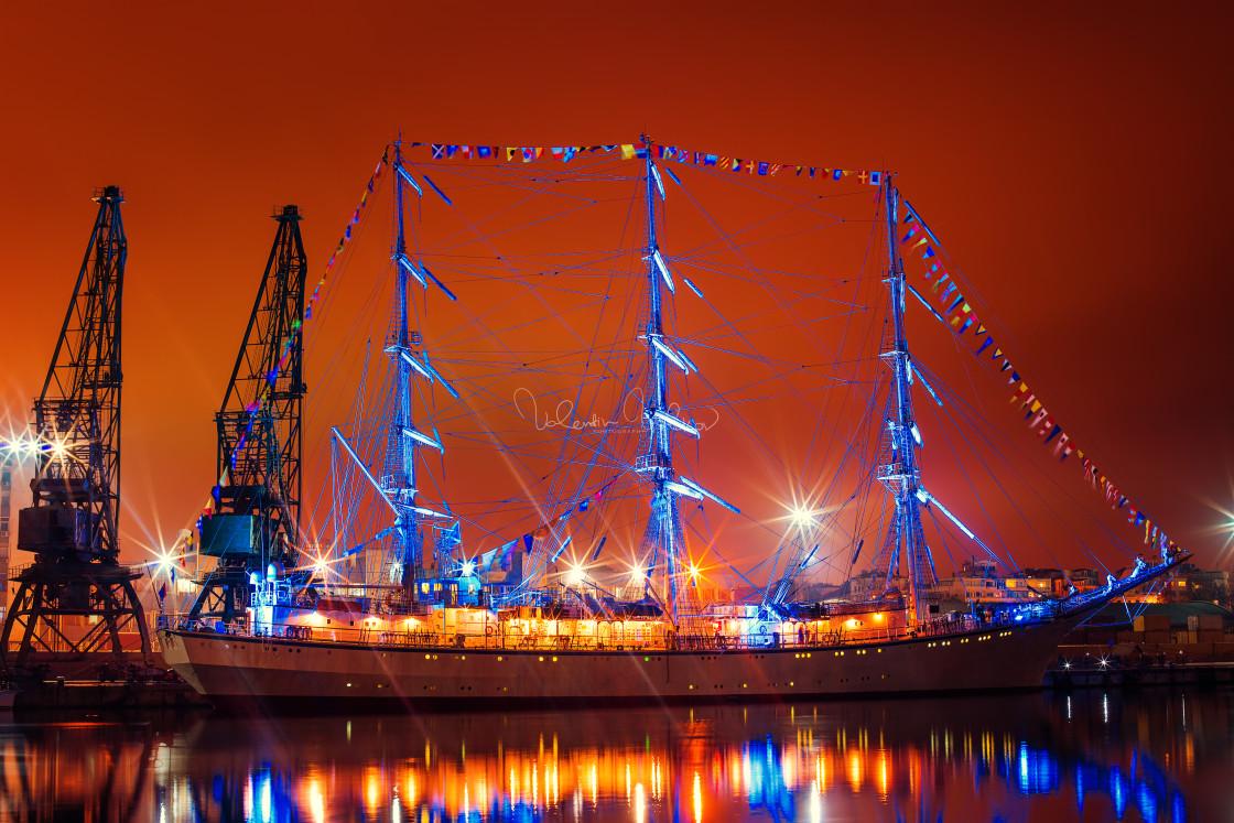 """""""Regata Tall ship in the Varna's Harbor ,Bulgaria"""" stock image"""