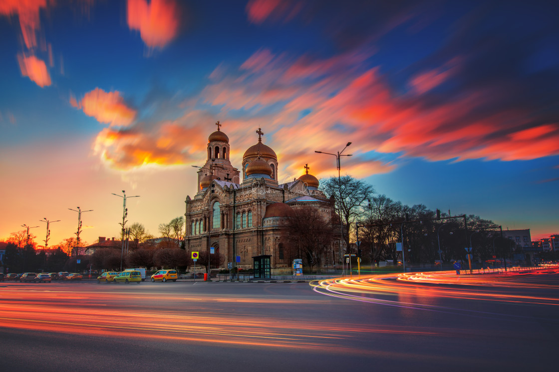 """""""The Cathedral of the Assumption in Varna"""" stock image"""