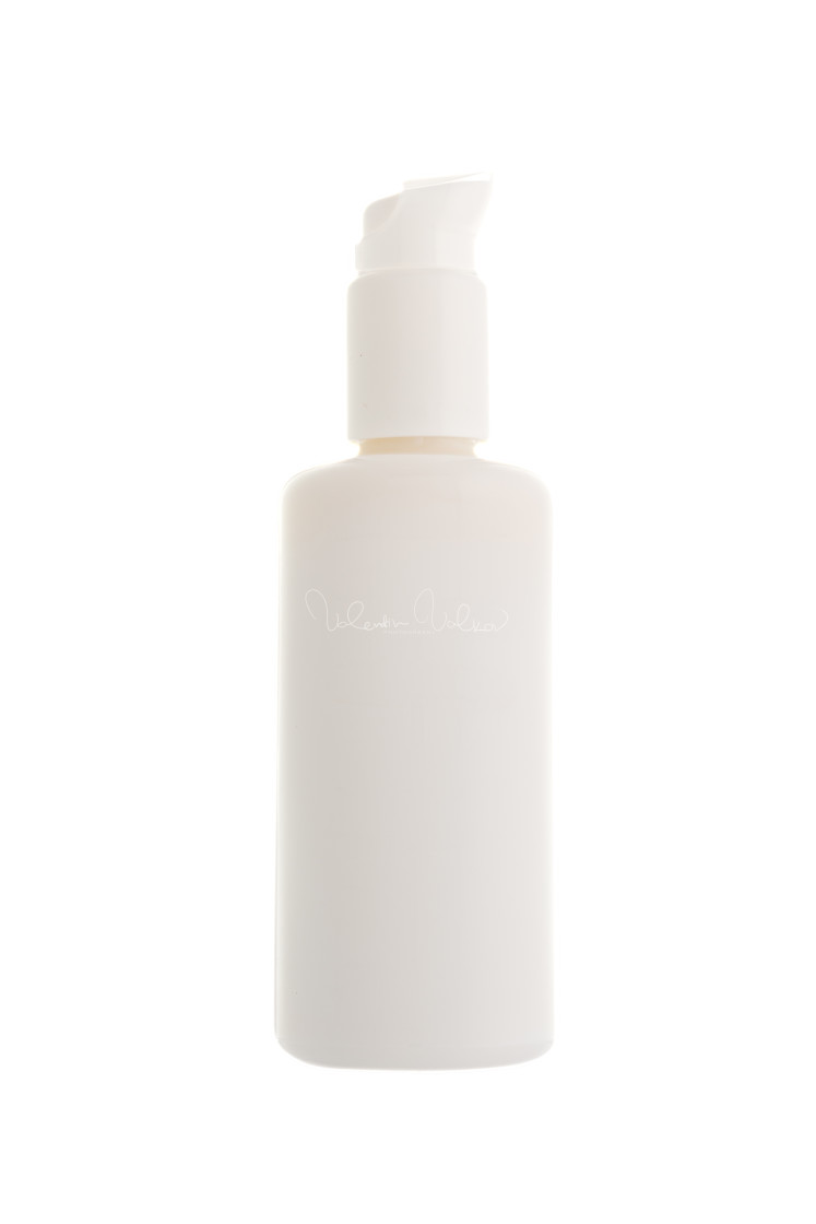 """Cosmetic bottle isolated on white"" stock image"