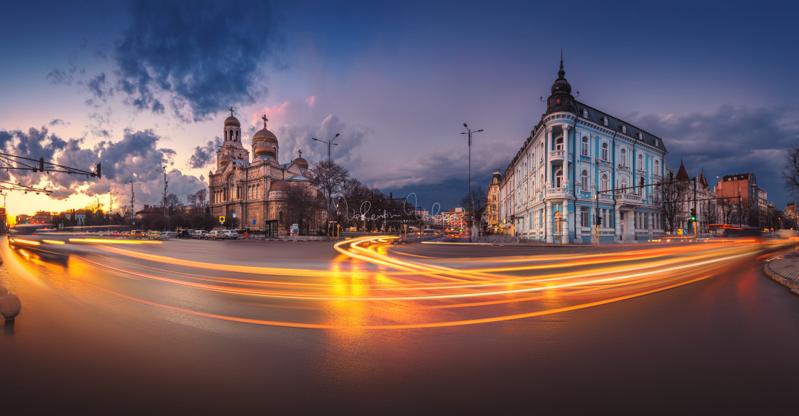 """""""The Cathedral of the Assumption in Varna, Bulgaria 2019"""" stock image"""