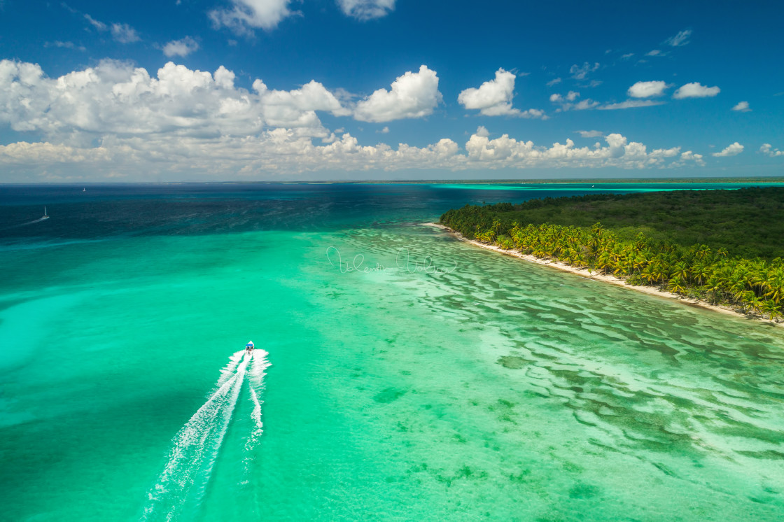 """""""Aerial view of tropical beach."""" stock image"""