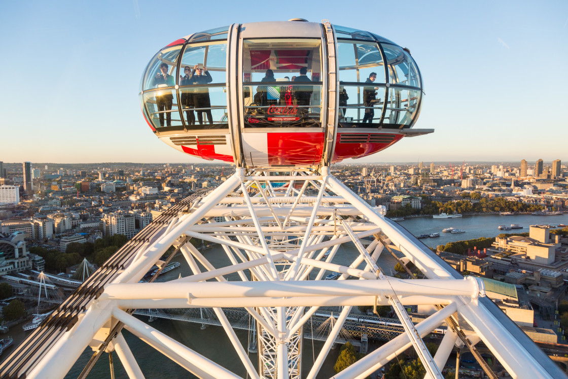 """""""View of City from London Eye"""" stock image"""