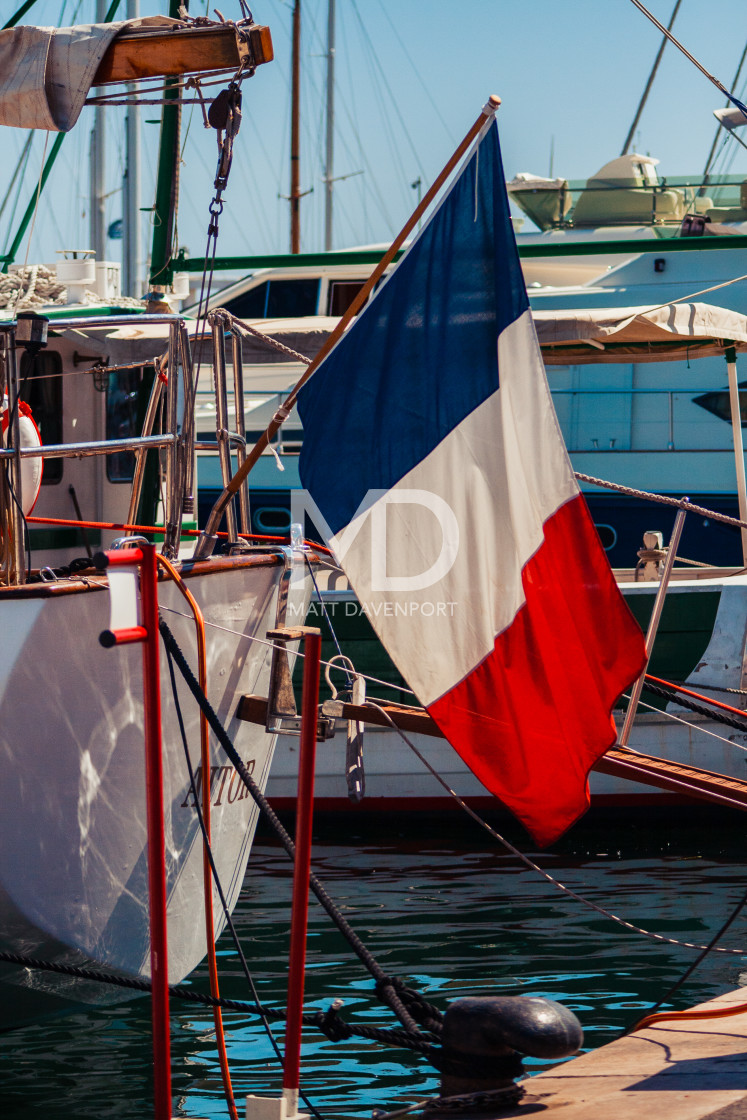 """French tricolour flag"" stock image"