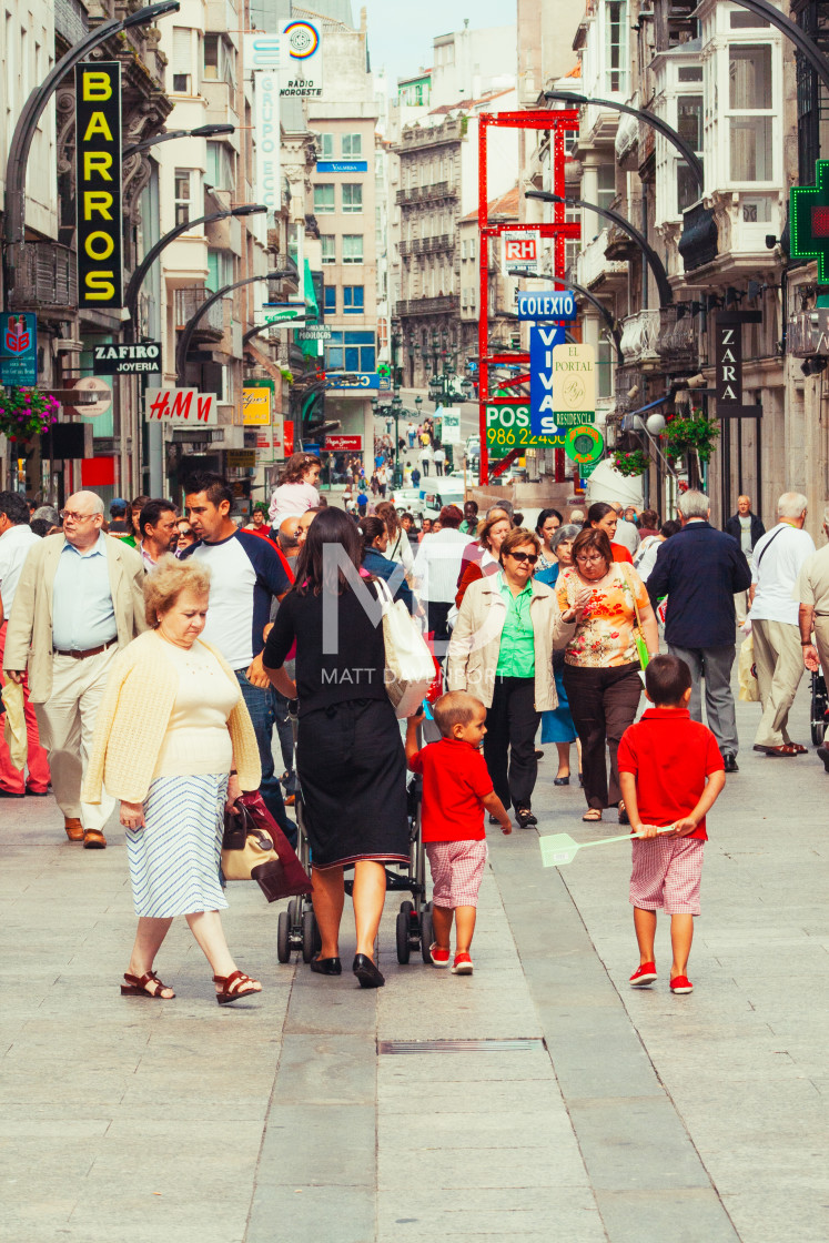 """Shopping in Vigo"" stock image"