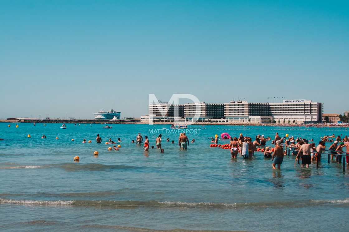 """The Mediterranean, Alicante"" stock image"