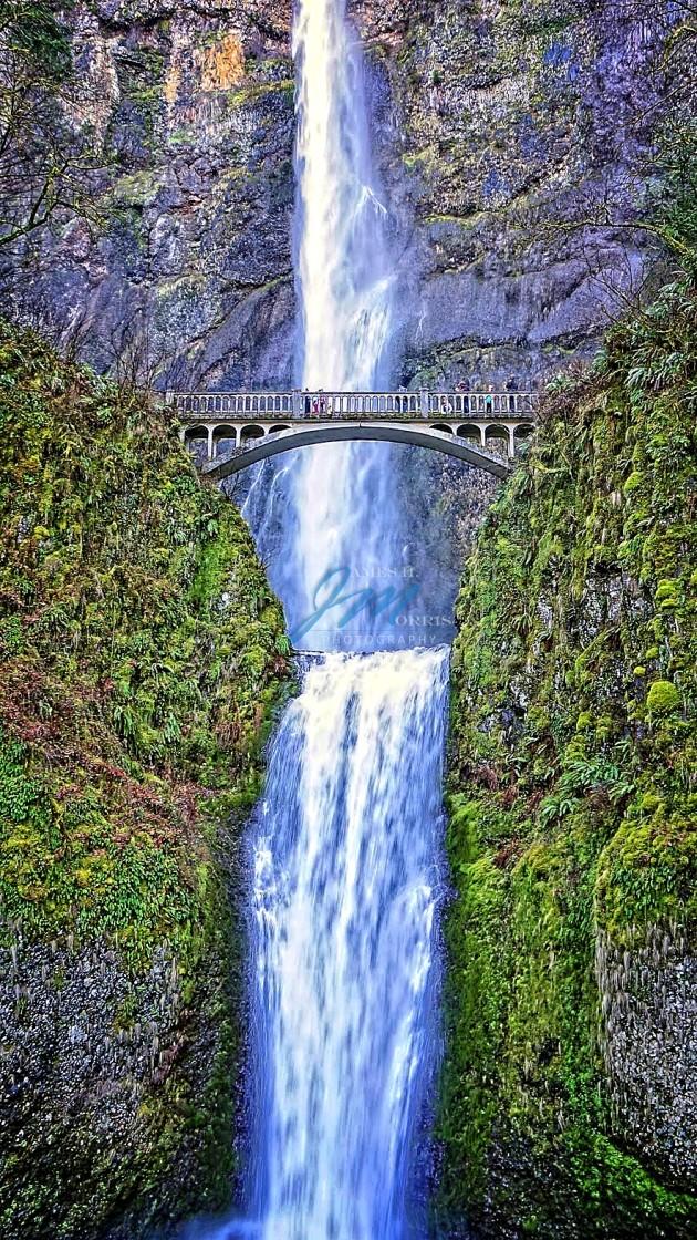 """Multnomah Falls, Oregon"" stock image"
