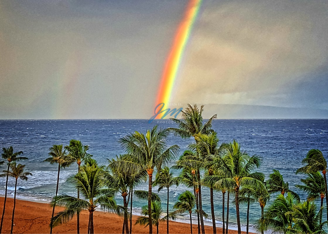 """Maui Rainbow"" stock image"
