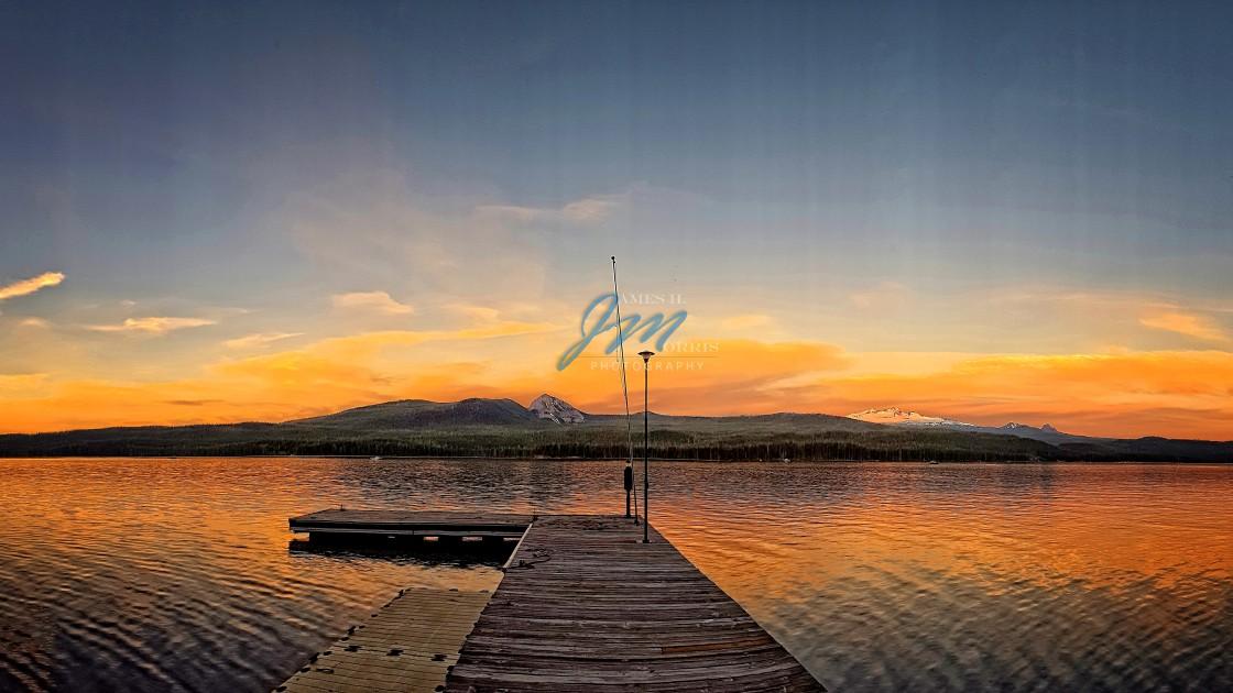 """Sunset Dock"" stock image"