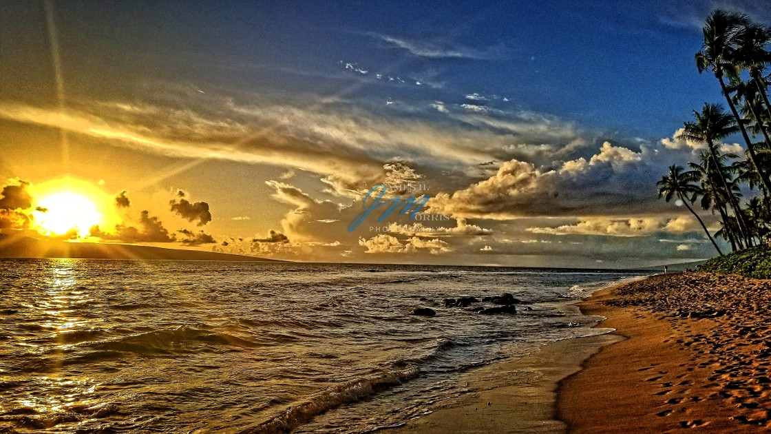 """Maui Sunset"" stock image"