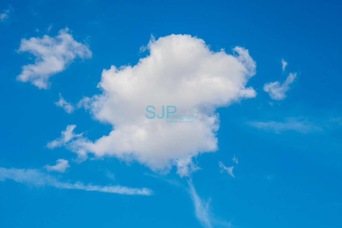 """""""Clouds in Blue Sky"""" stock image"""