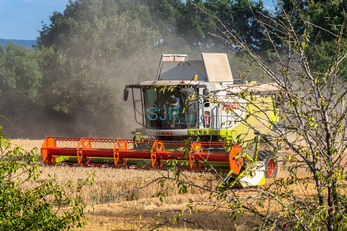 """Combine Harvester"" stock image"