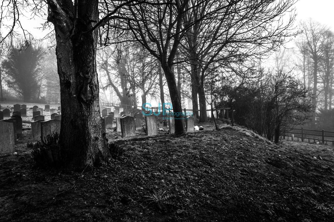 """Moody Churchyard"" stock image"