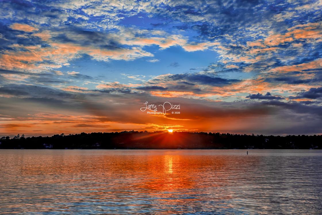 """Lake Auman Sunset 6"" stock image"