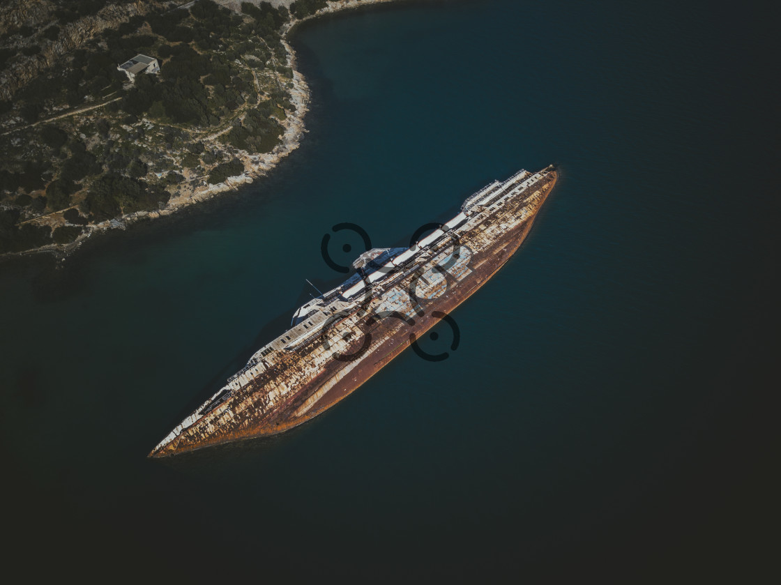 """Shipwreck of Elefsina"" stock image"