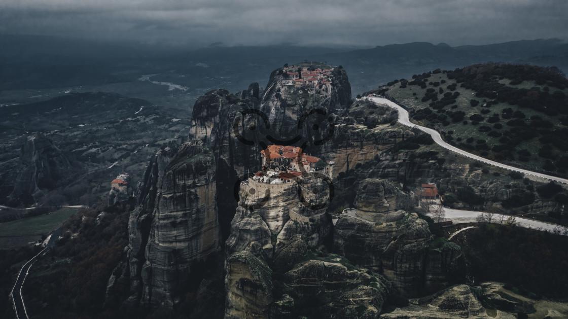 """Meteora Monasteries"" stock image"