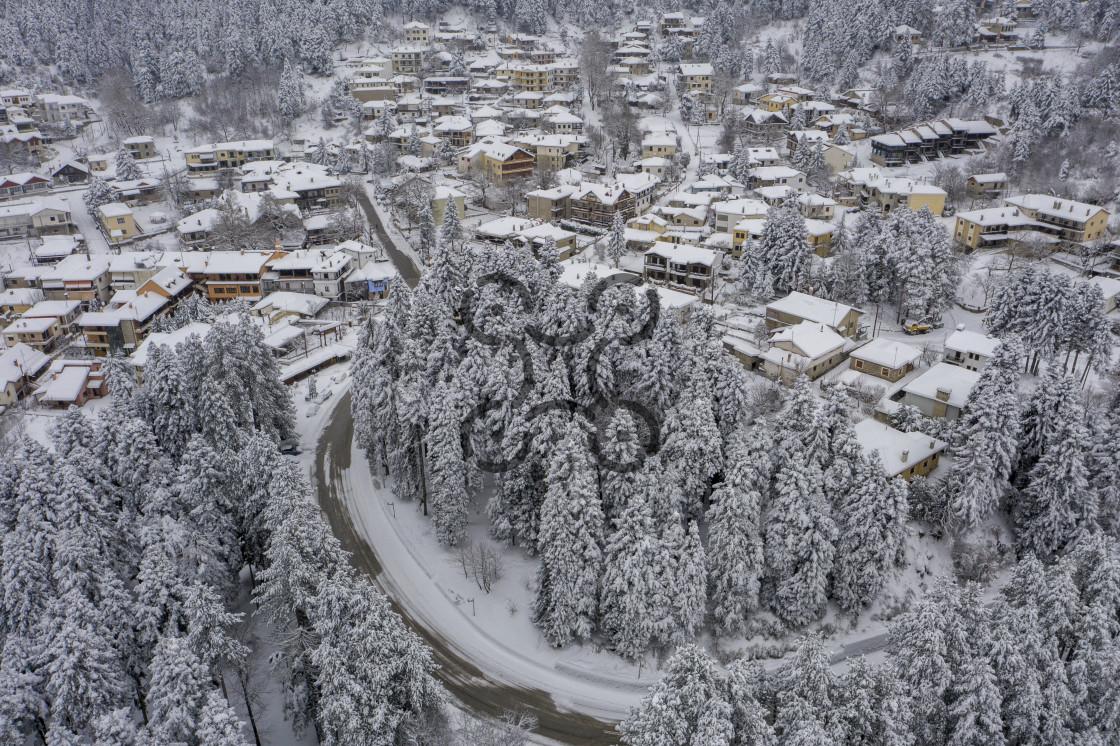 """Village Elati Trikala"" stock image"