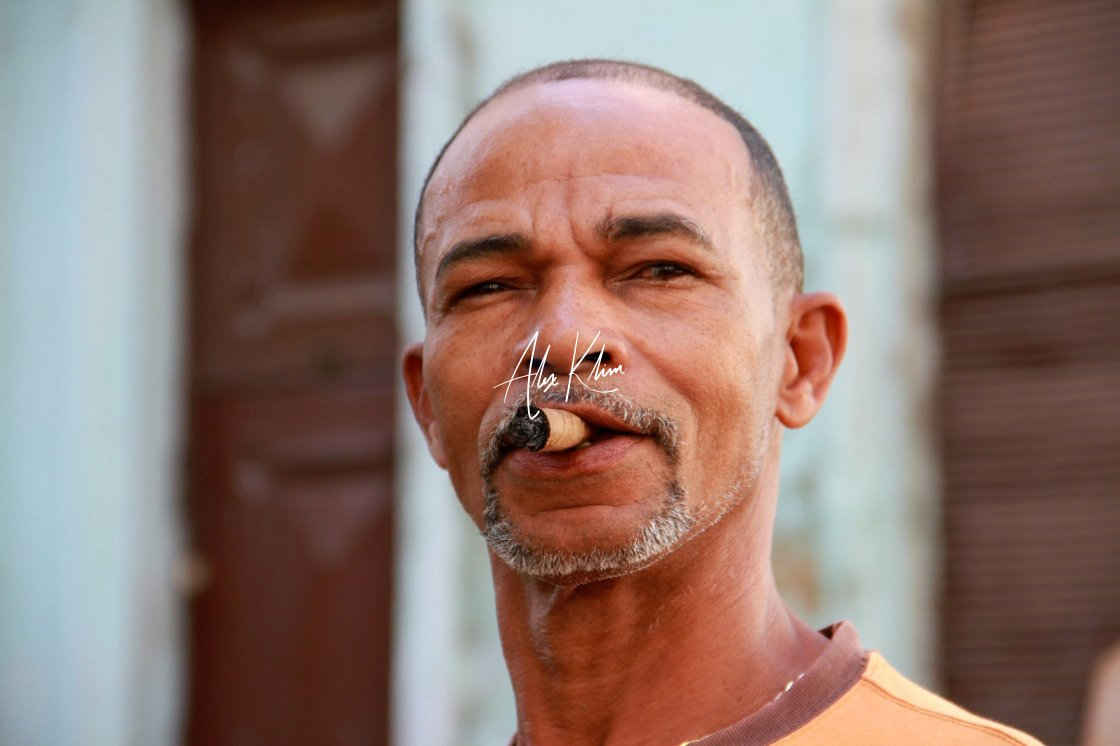 """Cigar Man"" stock image"