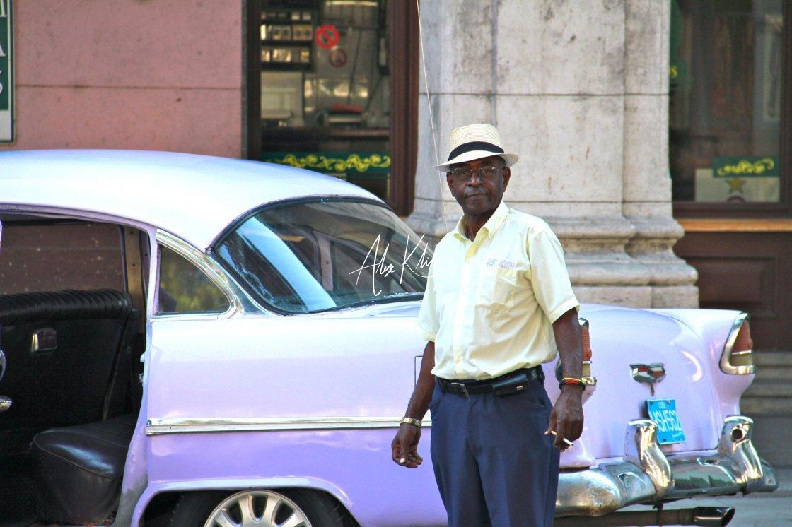 """""""Cuban Taxi Driver"""" stock image"""