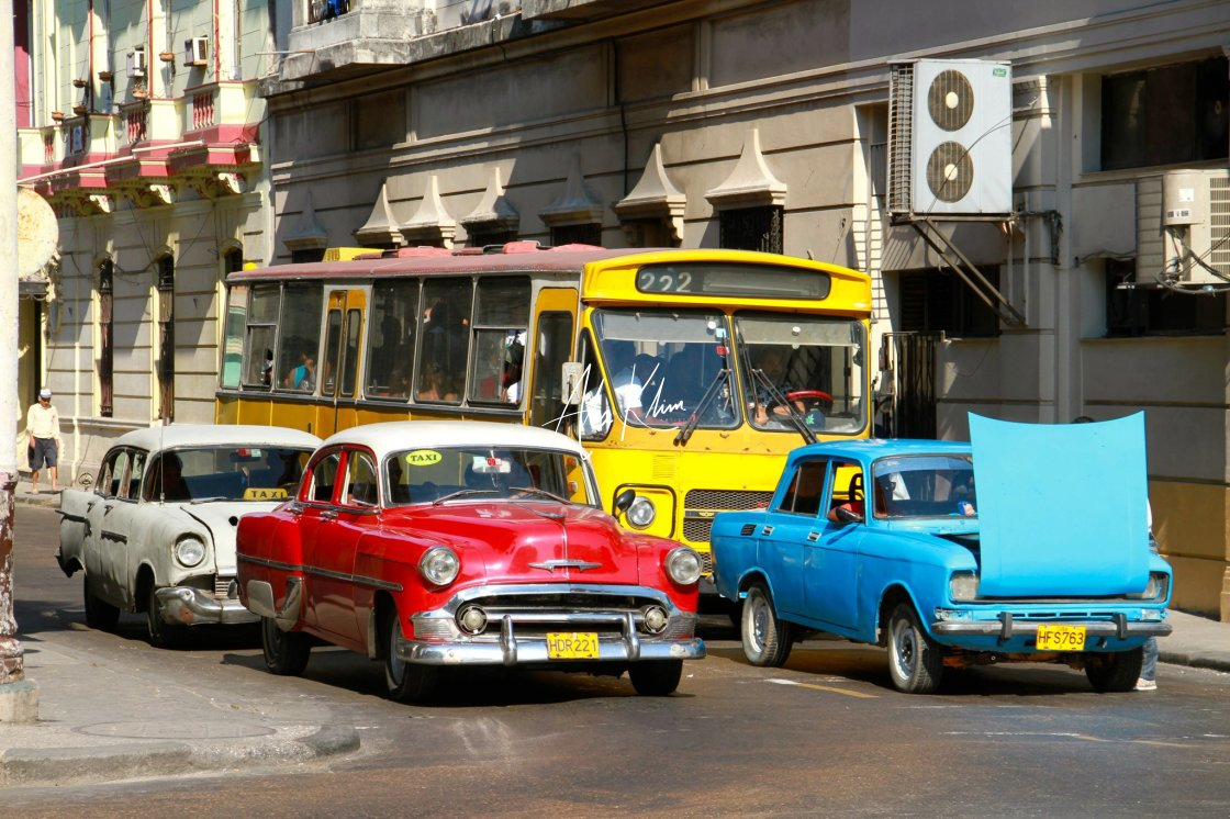 """Vintage cars in Cuba"" stock image"