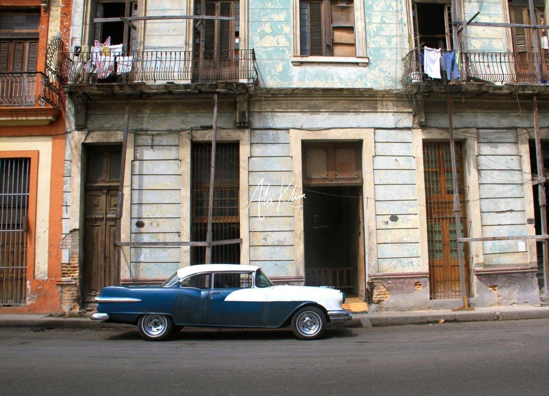 """Cuban vintage car parked"" stock image"