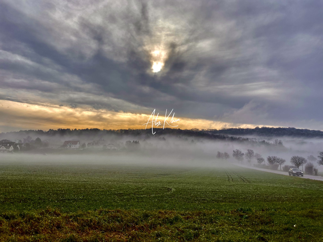 """""""Fog and Clouds"""" stock image"""