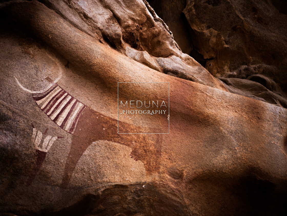 """Ancient cave paintings"" stock image"