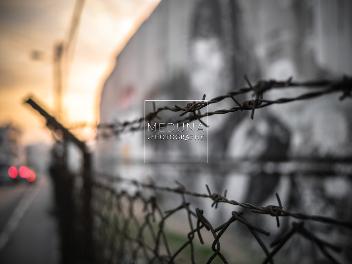 """West Bank barrier"" stock image"
